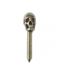 Silver contact screw with Skull