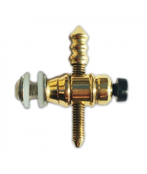 Brass front binding post brass contact screw