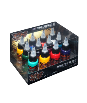 World Famous Primary Color Ink Set 3 - 30 ml - 12pz