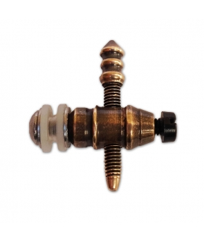 Brass front binding post copper contact screw