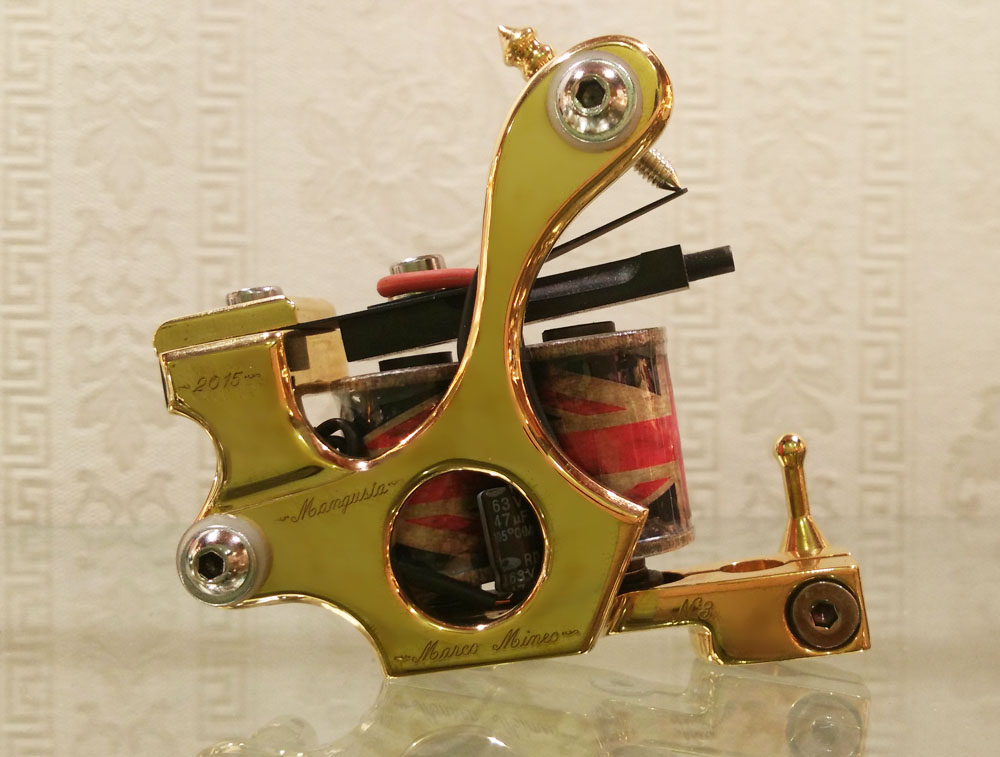 Mangusta Polished Brass - Tattoo Machine